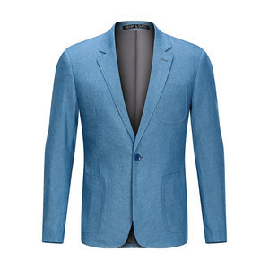 D'affaires poche blazer hommes bureau simple bouton