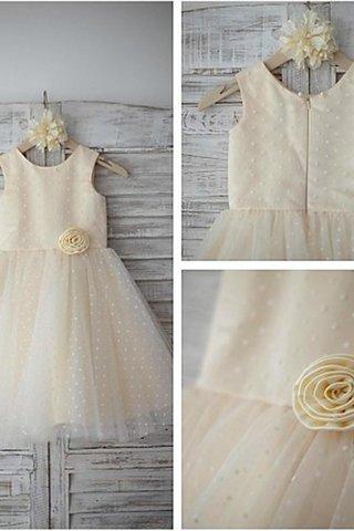 2dad807d3ac23 Robe de cortège enfant naturel ligne a avec fleurs avec sans manches  textile en tulle