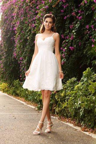 dcf0257826a Robe de mariée bref a-ligne au niveau de genou decoration en fleur manche  nulle