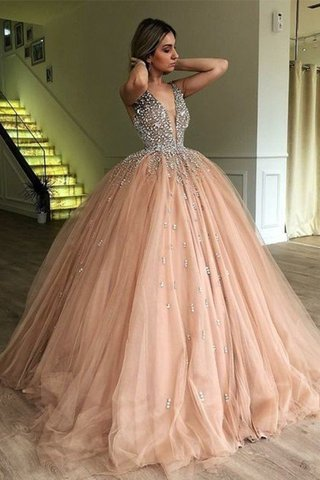 Robe de bal en tulle avec perle chaming de mode de bal naturel