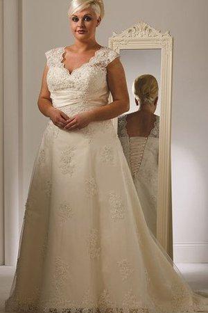481e4ba8267 Robe de mariée distinguee cordon de col en v ligne a lache