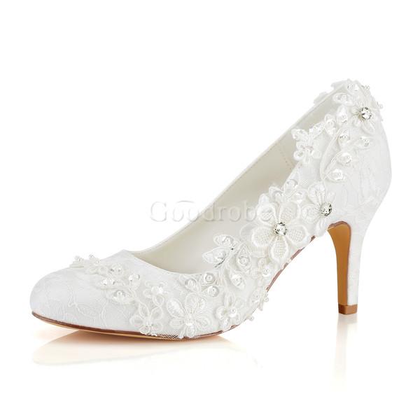 Chaussures de mariage talons hauts printemps charmante